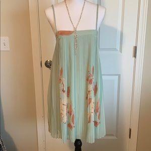 1920's style pleated mini dress